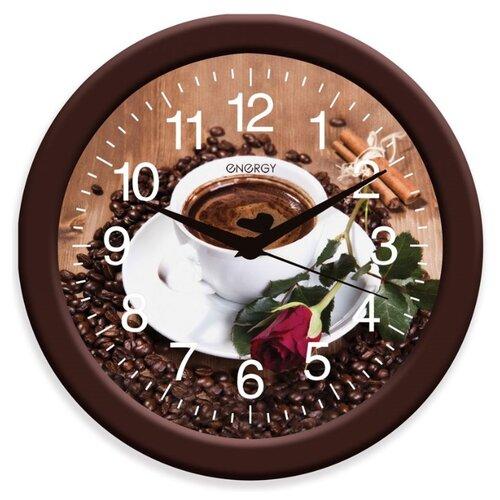 Часы настенные кварцевые Energy ЕС-101 кофе часы настенные energy d300мм