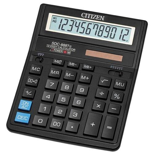 Калькулятор бухгалтерский CITIZEN SDC-888TII черный