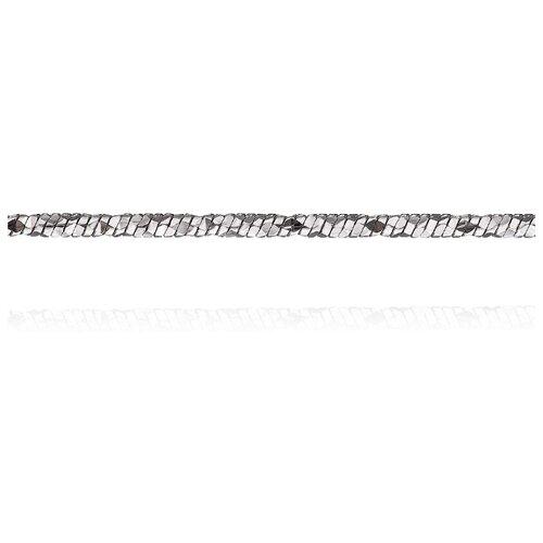 АДАМАС Цепь из белого золота плетения Панцирь одинарный ЦП150УКА41У-А58, 45 см, 7.5 г