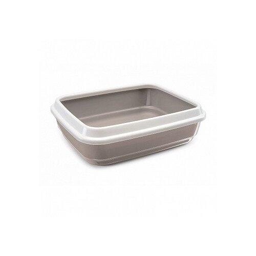 Туалет-лоток для кошек Imac Jerry 50х40х14.5 см бежевый/белый 1 шт.