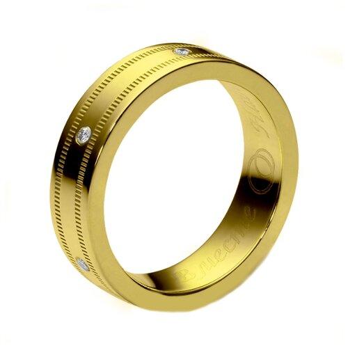 Эстет Кольцо с 6 фианитами из серебра с позолотой 01О150117А, размер 18.5 ЭСТЕТ