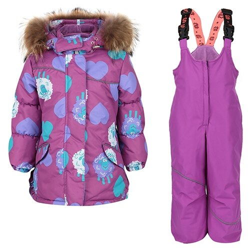 Купить Комплект с полукомбинезоном Stella размер 86, фиолетовый, Комплекты верхней одежды