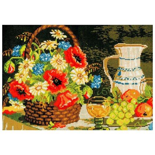 Schaefer Набор для вышивания гобелена Корзина с цветами 35 x 50 см (411/55) schaefer набор для вышивания 9 x 12 см 460 12
