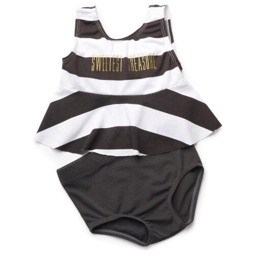 Купальник раздельный Happy Baby размер 80-86, черный/белый