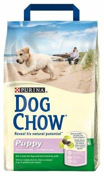 Корм для щенков DOG CHOW ягненок 3 кг