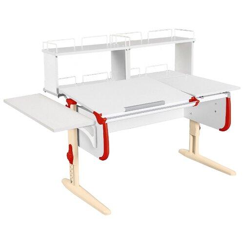 Стол ДЭМИ СУТ-25-02Д2 145x82 см белый/красный/бежевый стол дэми сут 25 02д2 145x82 см белый зеленый бежевый