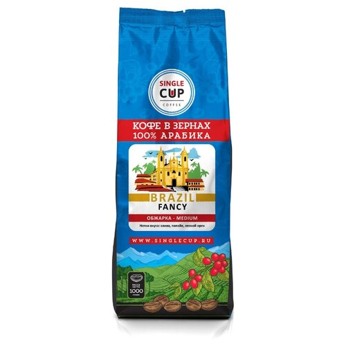 Фото - Кофе в зернах Single Cup Coffe Brazil Fancy, арабика, 1000 г cup
