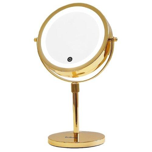 Зеркало косметическое настольное Belberg BZ-03 с подсветкой золотистый