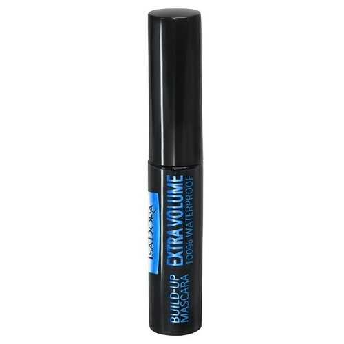 IsaDora Тушь для ресниц Build-Up Mascara Extra Volume 100% Waterproof, тон 20 черный