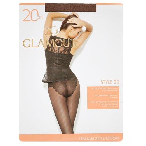 Колготки Glamour Style 20 den, размер 4-L, daino (бежевый) колготки glamour prestige 40 daino