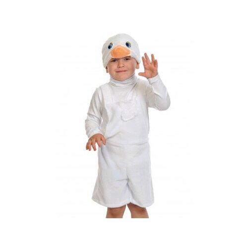 Купить Костюм КарнавалOFF Гусёнок плюш (3068), белый, размер 92-122, Карнавальные костюмы