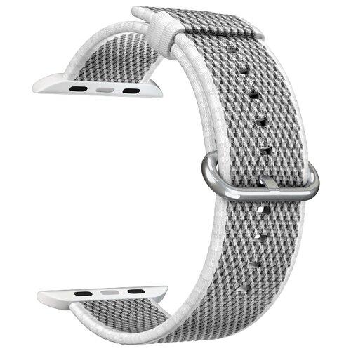 Нейлоновый ремешок для Apple Watch 38/40 mm LYAMBDA POLIS DSN-02-04A-40-WH White ремешок для часов lyambda для apple watch 38 40 mm polis dsn 02 02a 40 rd red