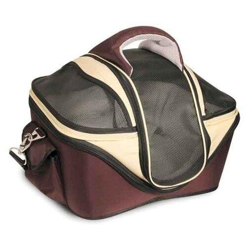 Сумка-переноска для собак Triol 30171L 53х43х41 см коричневый/бежевый сумка переноска для собак triol лаура 46х26 5х28 см голубой серый