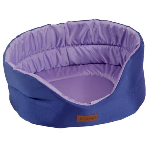 Лежак для собак и кошек Katsu Classic Shine M 52х46х19 см фиолетовый/лаванда