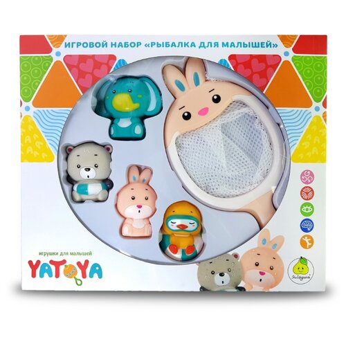 Набор игрушек для ванной Сачок-зайчик