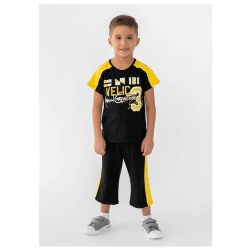 Комплект одежды looklie размер 98-104, черный/желтый комплект одежды looklie размер 98 104 изумрудный