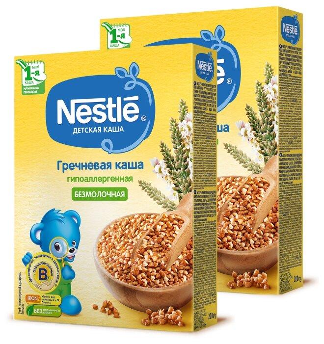 Каша Nestlé безмолочная гречневая гипоаллергенная (с 4 месяцев) 200 г (2 шт.)