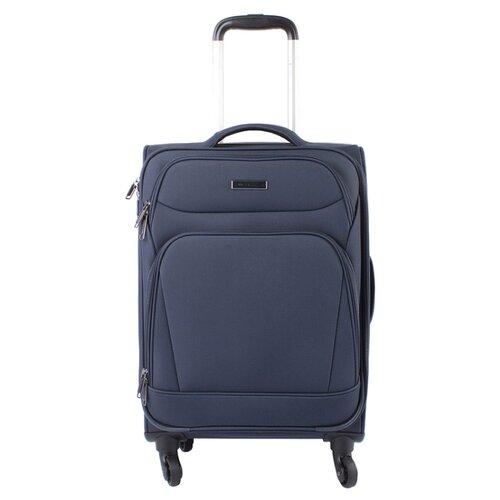 Чемодан Edmins 362 S, темно-синий чемодан airport 78 см темно синий 4 колеса