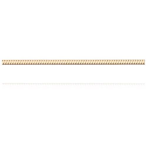 АДАМАС Цепь из золота плетения Панцирь одинарный ЦП135УКВА4-А51, 45 см, 3.94 г