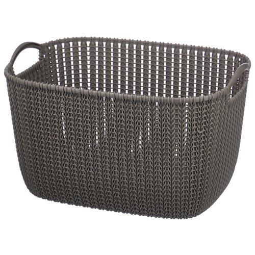 CURVER Корзина Knit 30x40x23см коричневый