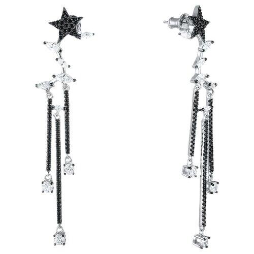 JV Серьги с фианитами из серебра E26794-W2-SR-001-WG jv серьги с фианитами из серебра e26752 w2 sr 001 wg