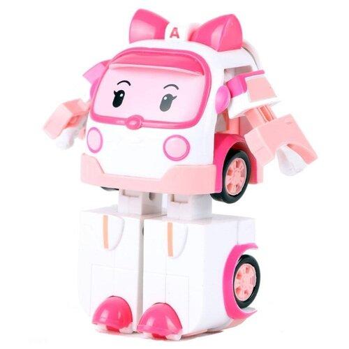 Купить Трансформер Silverlit Robocar Poli Эмбер 7, 5 см белый/розовый, Роботы и трансформеры