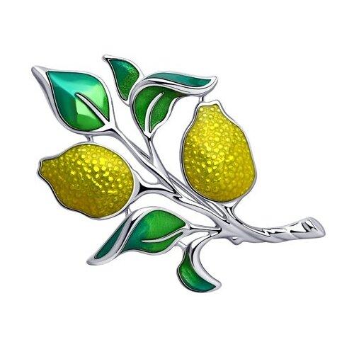 Diamant Брошь из серебра с эмалью 94-140-00540-1