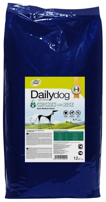 Корм для собак Dailydog курица с рисом 12 кг (для средних пород)