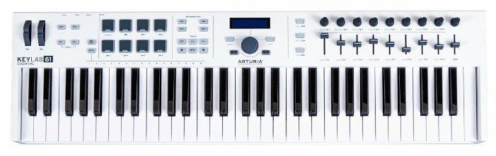 MIDI-клавиатура Arturia KeyLab Essential 61, MCI55038, белый