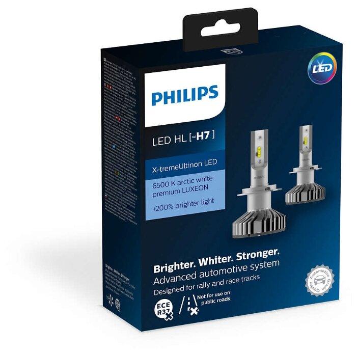 Лампа автомобильная светодиодная Philips X-tremeUltinon LED 12985BWX2 H7 12V 25W 2 шт.