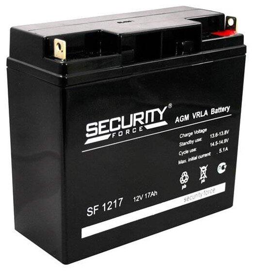 Аккумулятор Security Force 12 В, 17 Ач SF 1217 герметичный свинцово-кислотный