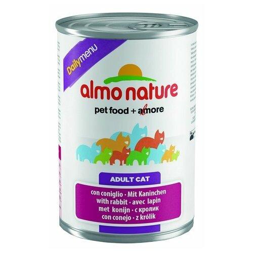 Влажный корм для кошек Almo Nature Daily Menu, с кроликом 400 г