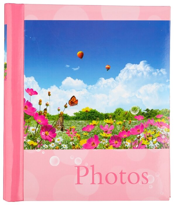 """Фотоальбом BRAUBERG на 20 магнитных листов, 23х28 см, """"Дивный луг"""", розовый, 390686"""