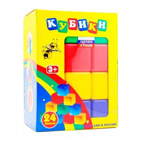 Кубики Новокузнецкий завод пластмасс 24 детали, Детские кубики  - купить со скидкой