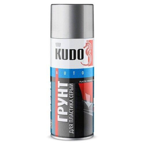 Аэрозольный грунт-праймер KUDO активатор адгезии для пластика (KU-6020) серый 0.5 л