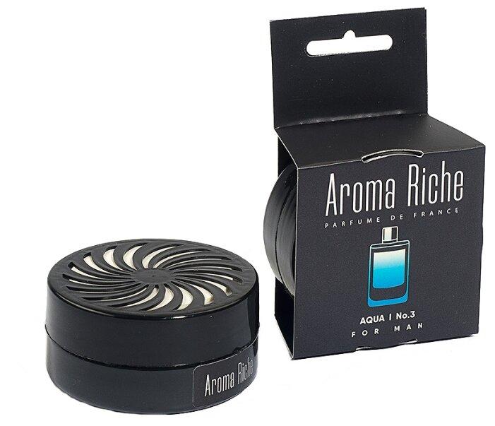 Автолидер Ароматизатор для автомобиля, Aroma Riche мужской, Aqua №3 50 г