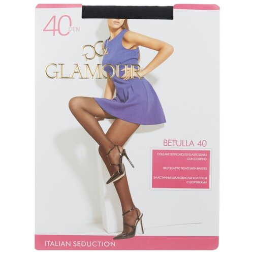 Колготки Glamour Betulla 40 den, размер 5-XL, nero (черный) колготки glamour thin body 2 40 den лёгкий загар