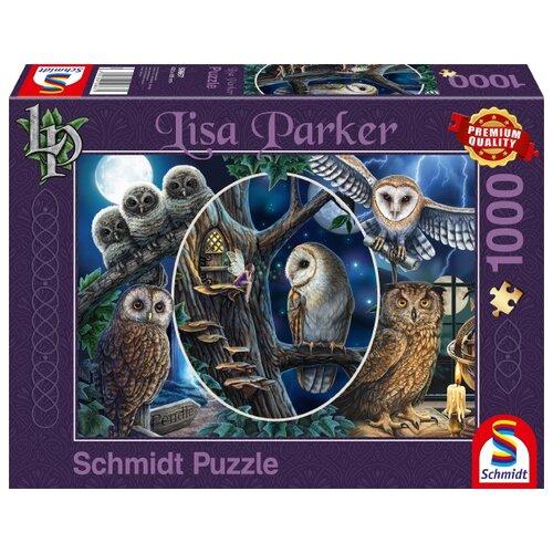 Купить Пазл Schmidt Л. Паркер Загадочные совы (59667), 1000 дет., Пазлы