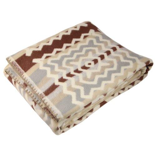 цены Одеяло ARLONI Параллели хлопковый, всесезонное, 170 х 205 см (серый/бежевый)