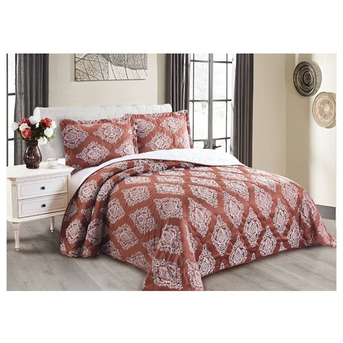 Комплект с покрывалом Cleo Versailles 240х260 см, темно-красный комплект с покрывалом cleo versailles 240х260 см коричневый