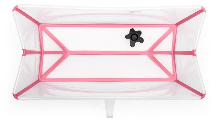 Ванночка Stokke FlexiBath прозрачный/розовый