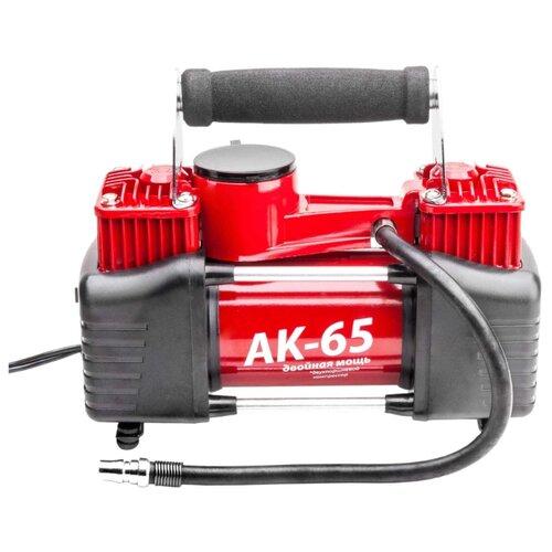 Автомобильный компрессор AUTOPROFI AK-65 красный