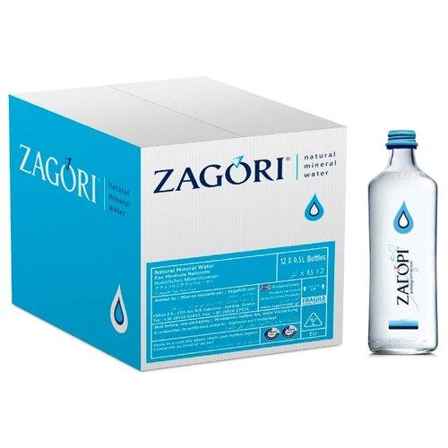 Минеральная вода Zagori негазированная, стекло, 12 шт. по 0.5 л истэль вода талая негазированная 12 шт по 0 5 л