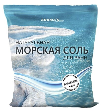 AROMA'Saules Натуральная морская соль для ванн Валерьяна,