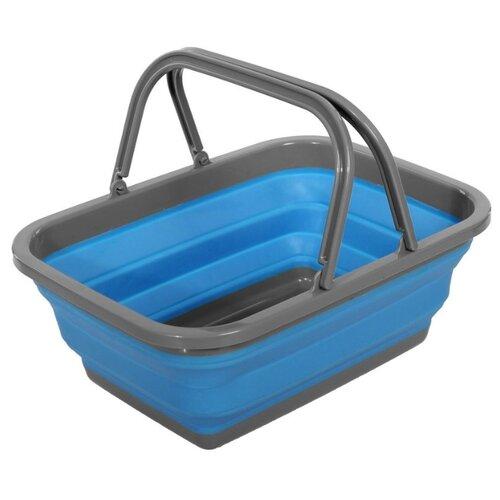 BRADEX Корзина пластиковая складная с 2 ручками 15.5х38х28 см синий