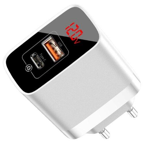 Сетевая зарядка Baseus Mirror Lake PPS Digital Display Quick Charger A+C EU белый