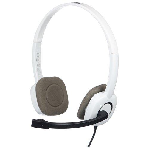 Купить Компьютерная гарнитура Logitech Stereo Headset H150 белый
