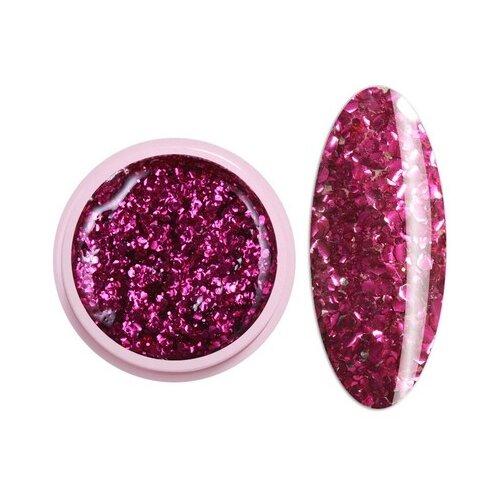 Краска ICE NOVA Glitter Gel 54 ярко-розовый