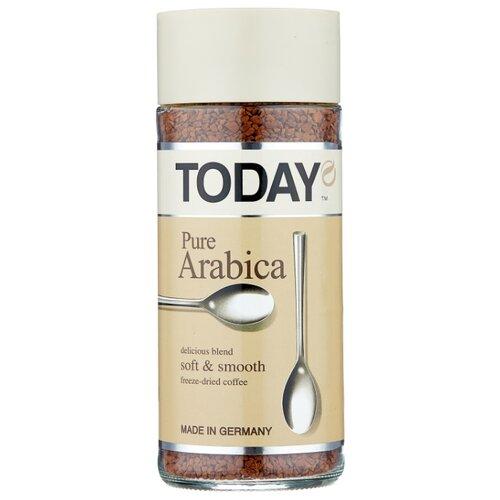 Кофе растворимый Today Pure Arabica сублимированный, стеклянная банка, 95 г набор today in fi ineo кофе растворимый 95 г today pure arabica кофе растворимый 37 5 г