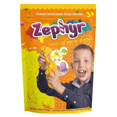 Масса для лепки Zephyr желтая 300 г Дой-пак (00-00000813/Z111) масса для лепки zephyr солнечный цып желтая 150 г 00 00000743 z101